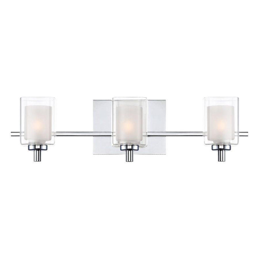 Quoizel Kolt 3-Light Polished Chrome Cylinder LED Vanity Light Bar