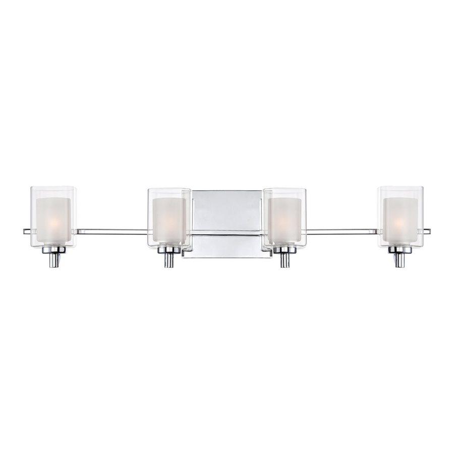 Quoizel Kolt 4-Light Polished Chrome Cylinder LED Vanity Light Bar