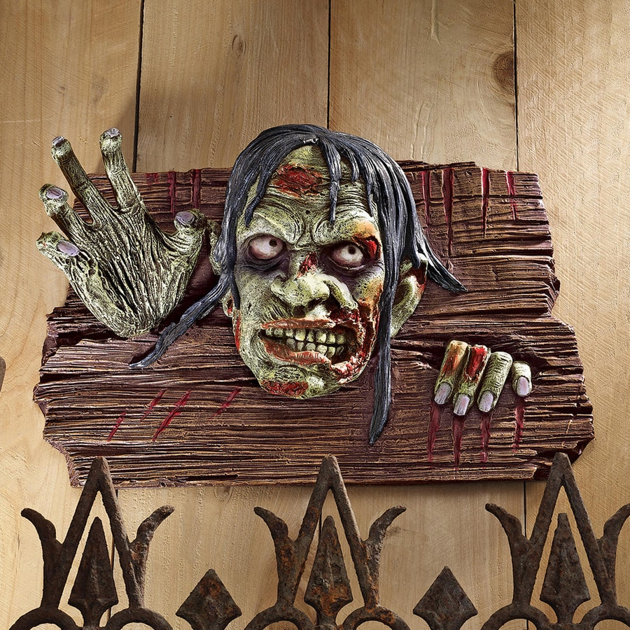 Design Toscano Zombies At The Door Wall-Mounted Zombie Sign