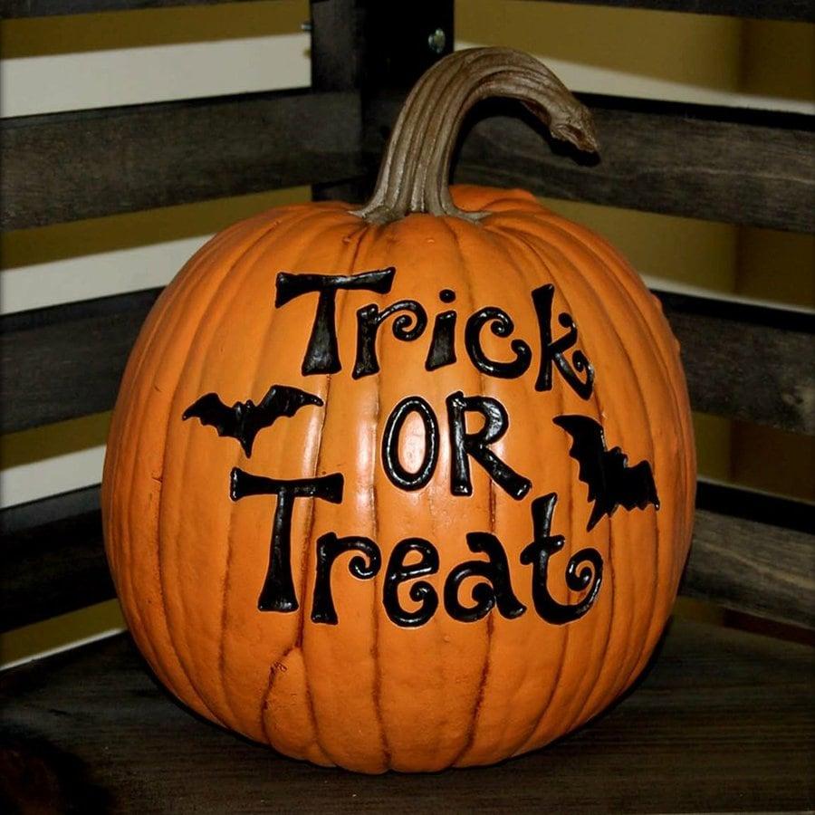 Craft-Tex Trick or Treat Freestanding Pumpkin Sculpture