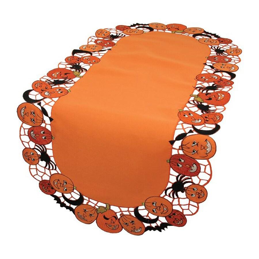 XIA Home Fashions Happy Jack-O-Lanterns Tabletop Jack-O-Lantern Table Runner