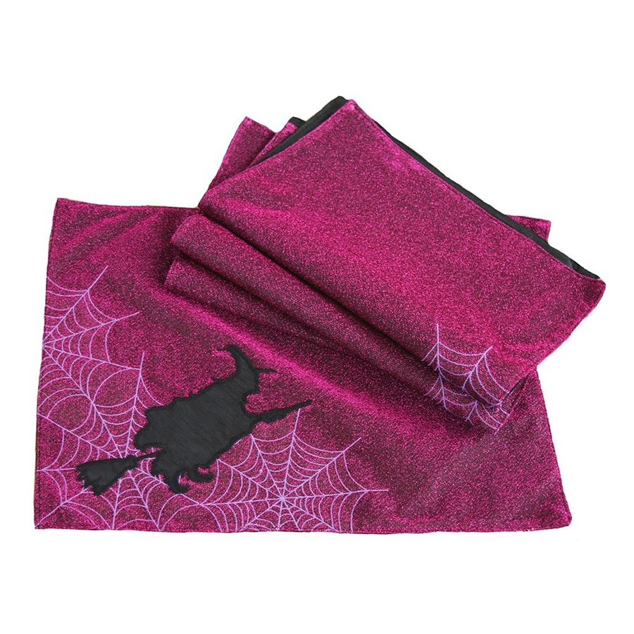 XIA Home Fashions Witching Hour Tabletop Witch Placemat (Set of 4)