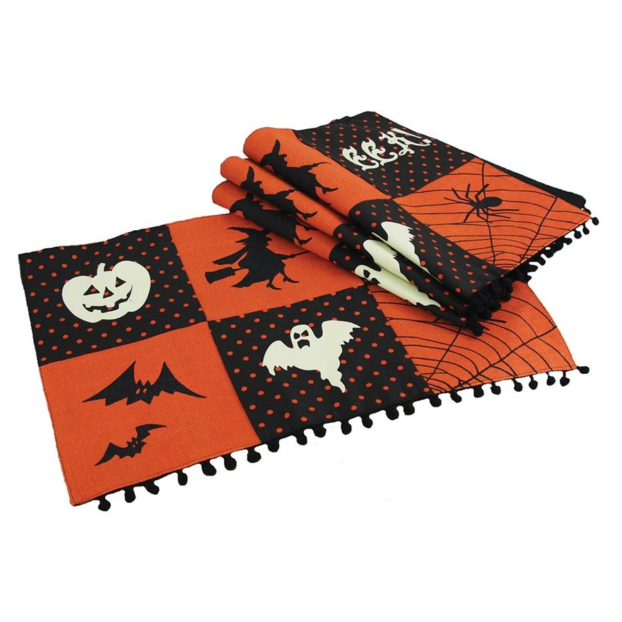 XIA Home Fashions Halloween Patchwork Eek! Tabletop Placemat (Set of 4)