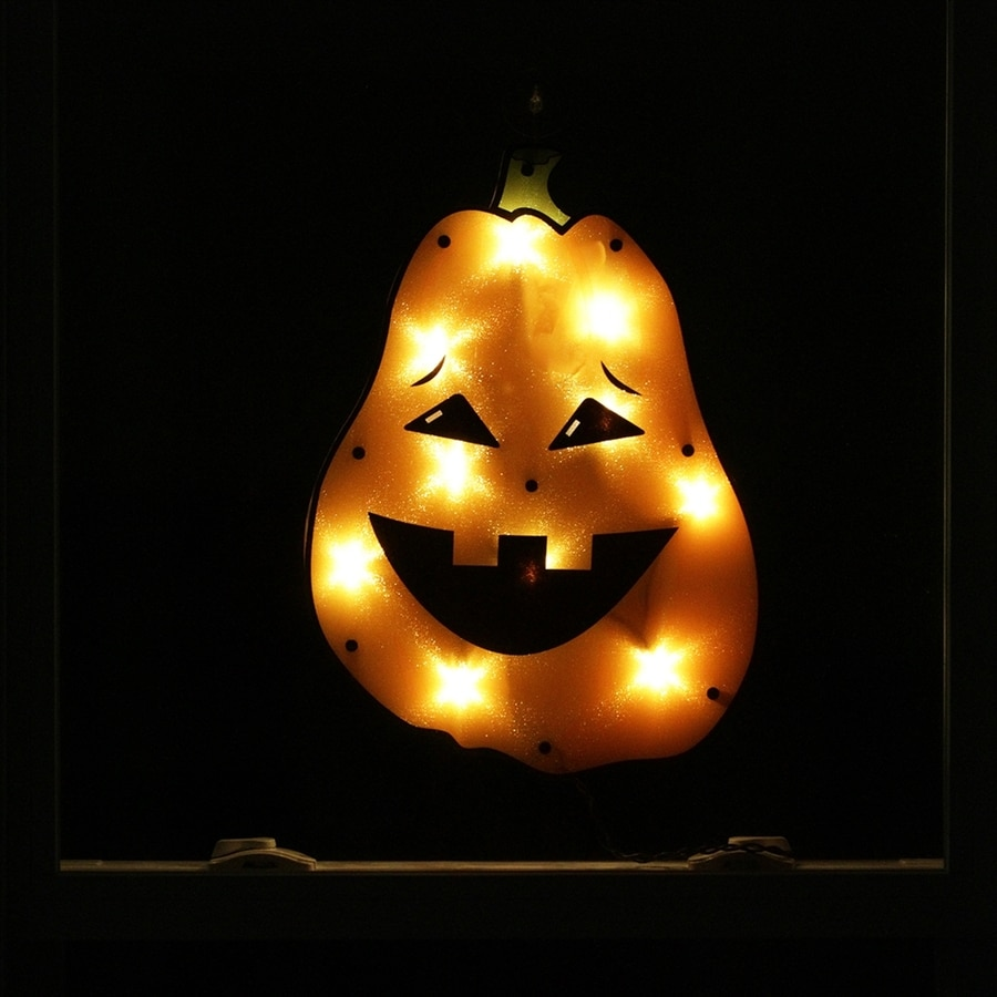 Northlight Lighted Hanging Jack-O-Lantern Novelty Light with White Lights