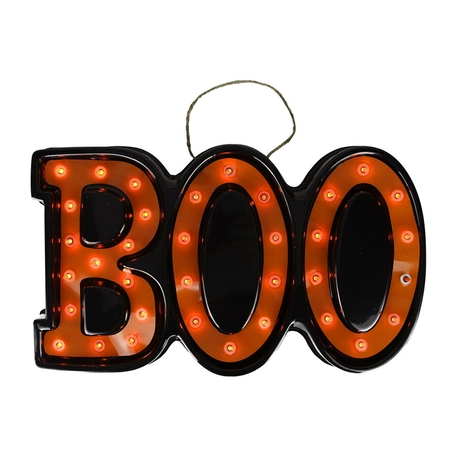 Northlight Lighted Boo Hanging Novelty Light with Orange Incandescent Lights