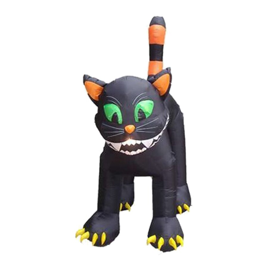 Shop Northlight 11-ft x 9-ft Animated Lighted Black Cat Halloween Inflatable at Lowes.com