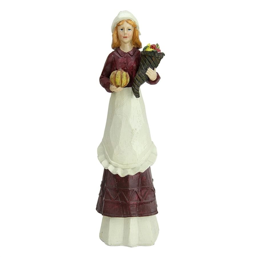 Shop Northlight Polyresin Pilgrim Figurine Indoor Thanksgiving Decoration at Lowes.com