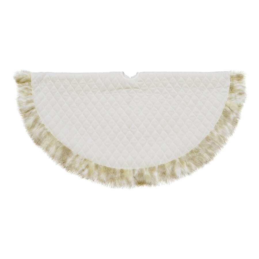 Northlight 48-in White Polyester Christmas Tree Skirt