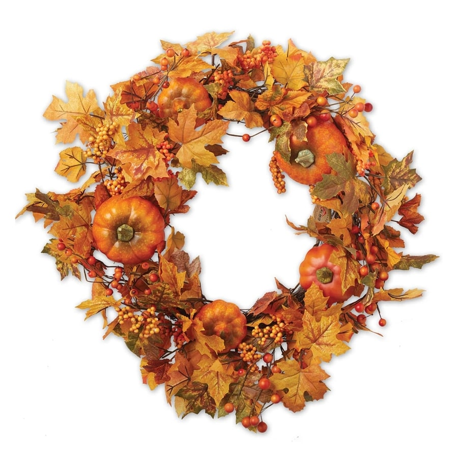 Design Imports 22-in Leaf Artificial Thanksgiving Wreath