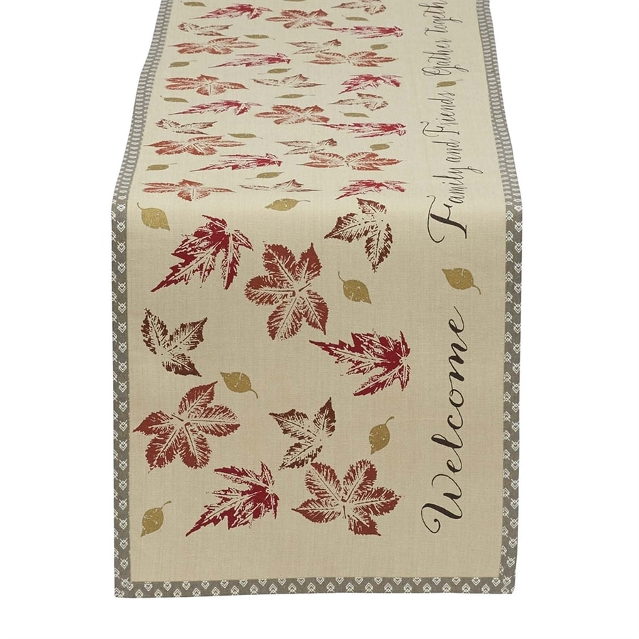 Design Imports Leaves Table Runner Indoor Thanksgiving Decoration