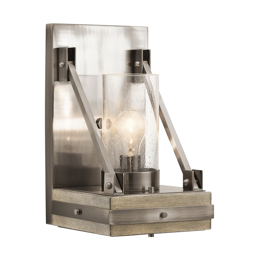 Kichler Lighting Colerne 8.75-in W 1-Light Classic Pewter Arm Wall Sconce
