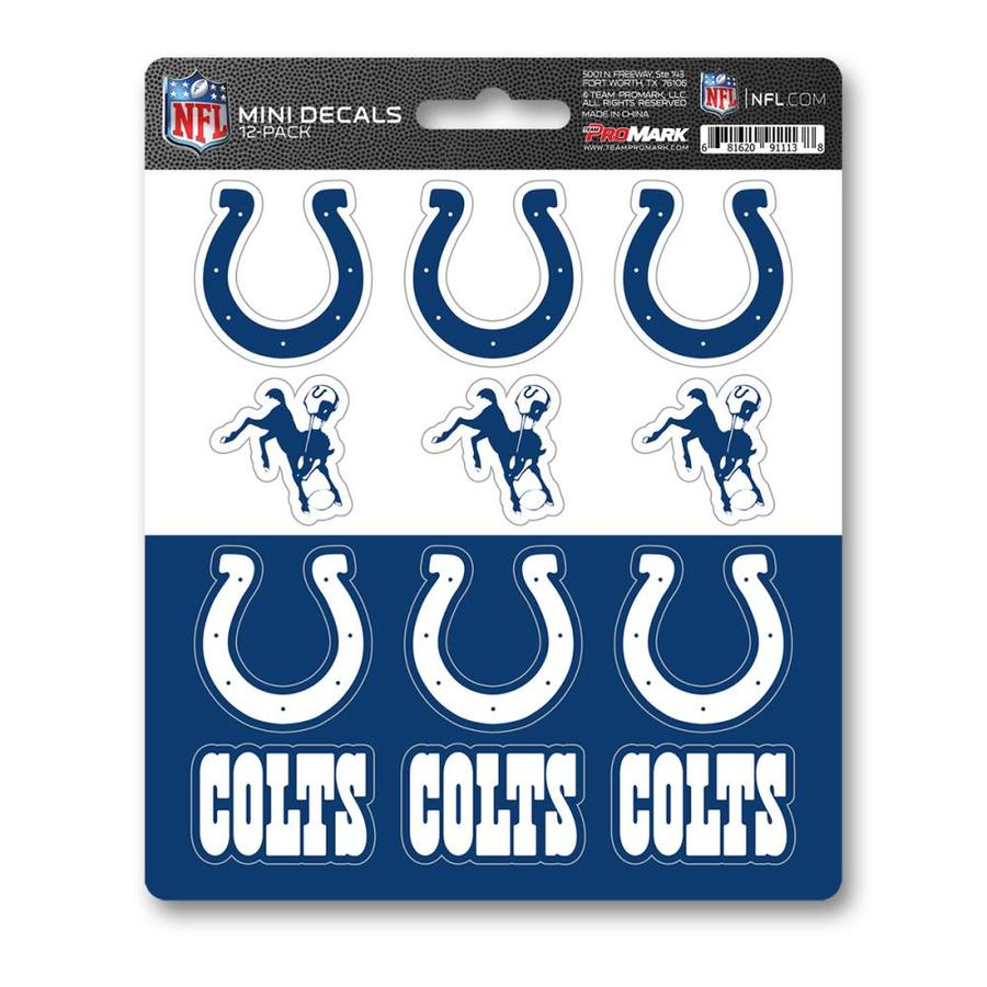 "Promark NFL Indianapolis Colts Team Slogan Decal 3/"" x 12/"""