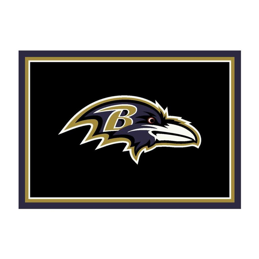 Imperial International Baltimore Ravens 8 X 11 Team Color Indoor Sports Area Rug In The Rugs Department At Lowes Com