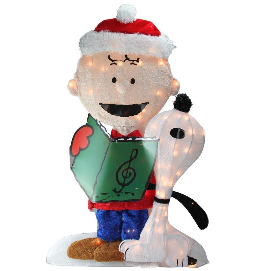 Northlight 32 in Snoopy and Woodstock Light Display with Clear Incandescent Lights Lights