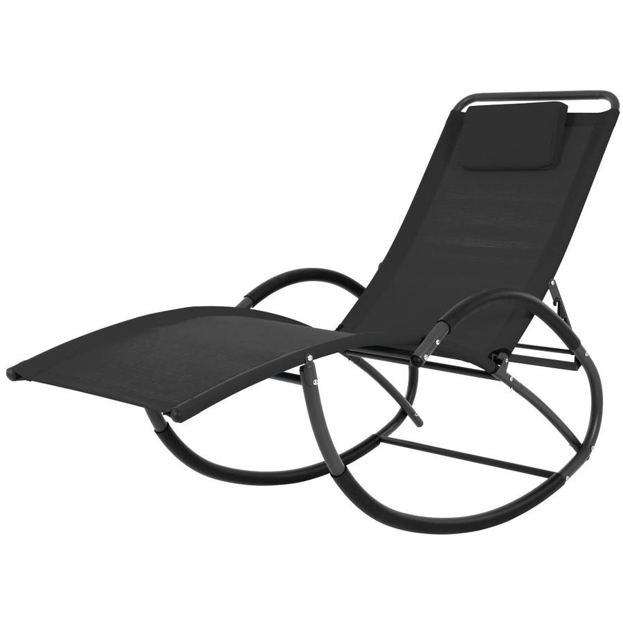Tommy Bahama Outdoor Cushions, Vivere Wavelaze Black Metal Chaise Lounge Chair S With Black Mesh Seat In The Patio Chairs Department At Lowes Com