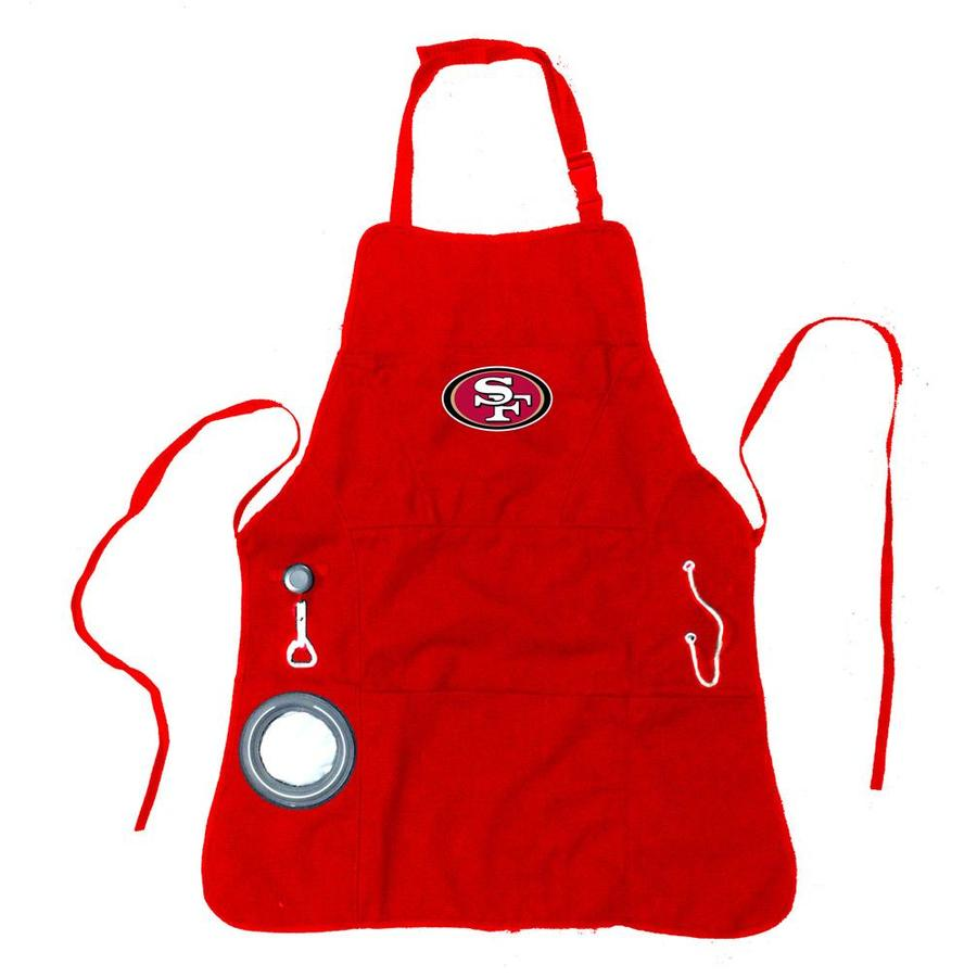 TTHT Fit San Francisco 49ers Apron and Chef Hat Set Adjustable Water-Resistant BBQ Aprons for Women Men,Two Spacious Pockets Unisex and One Size Fit Most Fit 49ers/_1