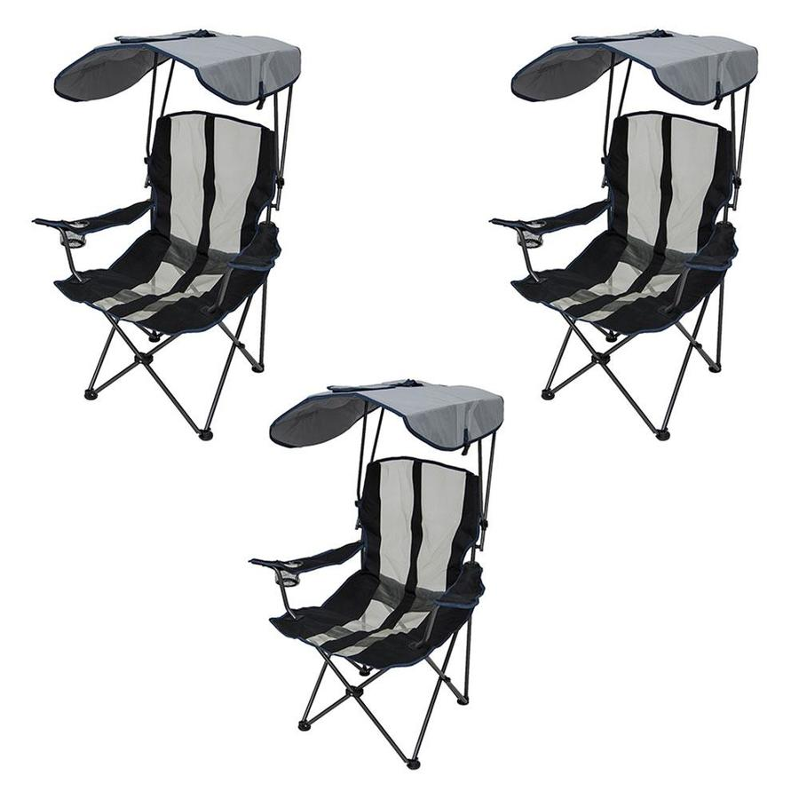 Swimways Premium Portable Camping Folding Lawn Chair With Canopy 3 Pack In The Beach Camping Chairs Department At Lowes Com