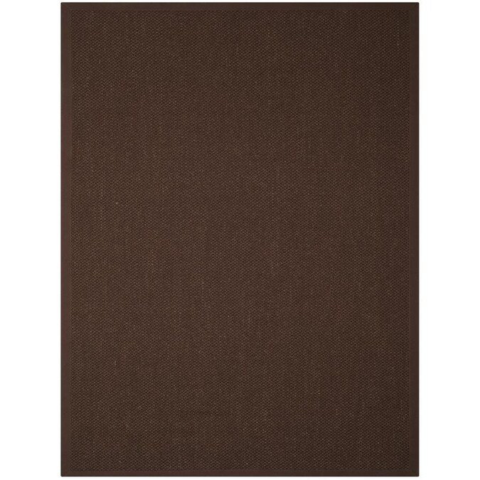 Safavieh Natural Fiber Chica 8 X 10 Chocolate Dark Brown Indoor Solid Coastal Area Rug In The Rugs Department At Lowes Com