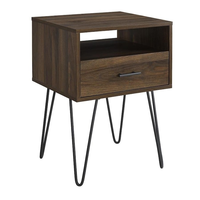 Walker Edison Dark Walnut Composite End Table In The End Tables Department At Lowes Com