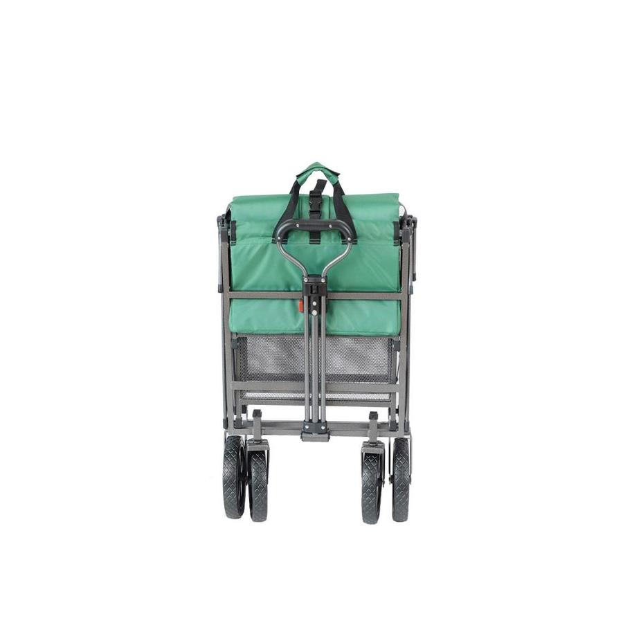 Mac Sports Collapsible Double Decker Garden Utility Wagon /& Extended Lower Shelf