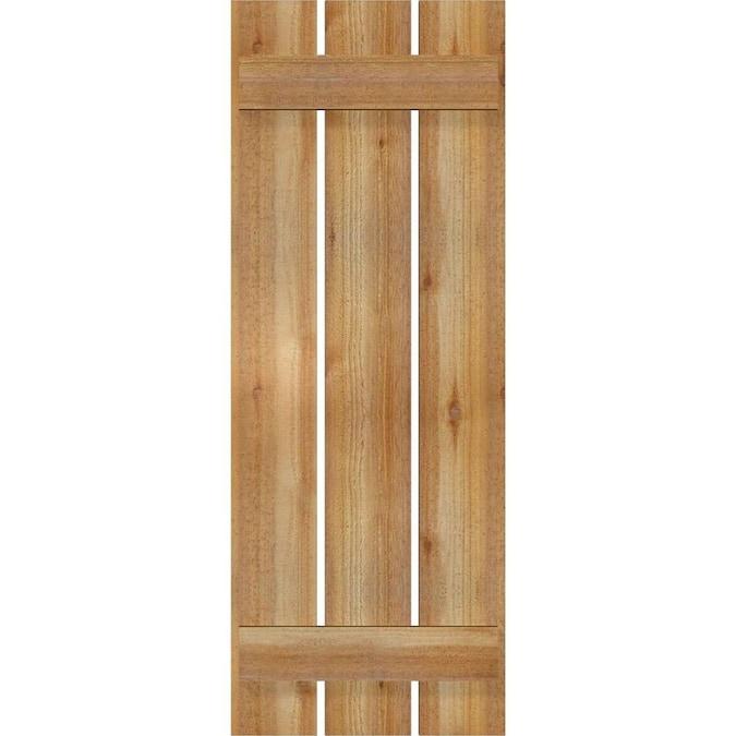 Per Pair Chrome Green 10 1//2W x 29 1//2H Ekena Millwork EB0110500X029500WCG Exterior Western Red Cedar Three Board Two Batten Board-n-Batten Shutters