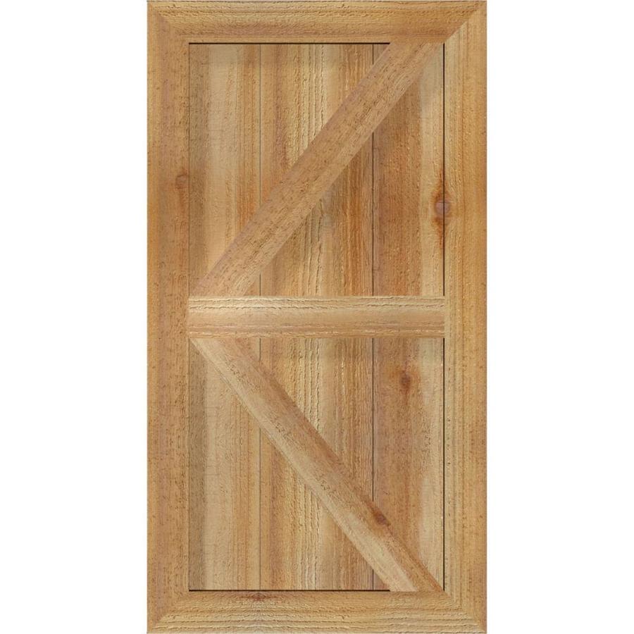 Per Pair Ekena Millwork EB0110500X037500WUN Exterior Western Red Cedar Three Board Two Batten Board-n-Batten Shutters 10 1//2W x 37 1//2H 10 1//2W x 37 1//2H Unfinished