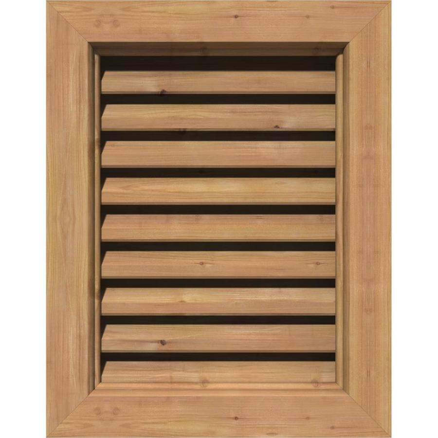 Ekena Millwork GVWOC24X2401RFUWR Gable Vents 29W x 29H Frame Size Unfinished Western Red Cedar 24W x 24H