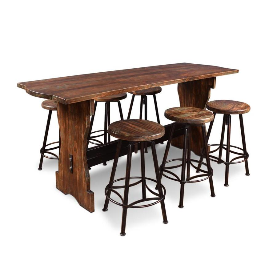 Sunset Trading Cabo Distressed Walnut Dining Room Set With Rectangular Table In The Dining Room Sets Department At Lowes Com