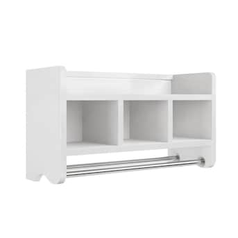 Alaterre Furniture White 1 Tier Wood Wall Mount Bathroom Shelf In The Bathroom Shelves Department At Lowes Com