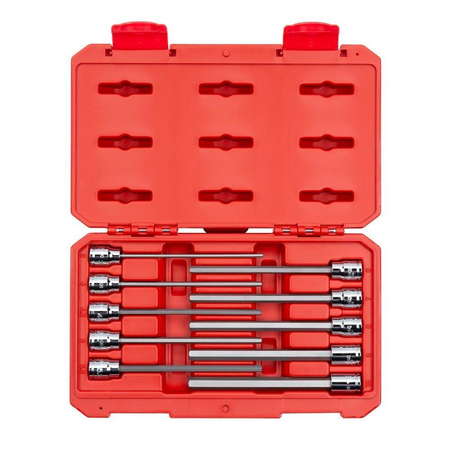 Genius 3//8in Drive 10 Piece Hex Socket Bit Set SAE 1//8-1//2in BS-310HS