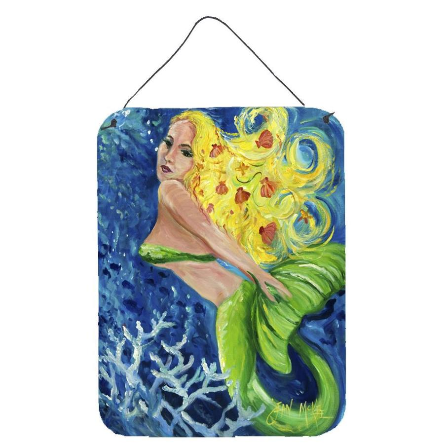 16 x 12 Carolines Treasures Blonde Mermaid Wall or Door Hanging Prints
