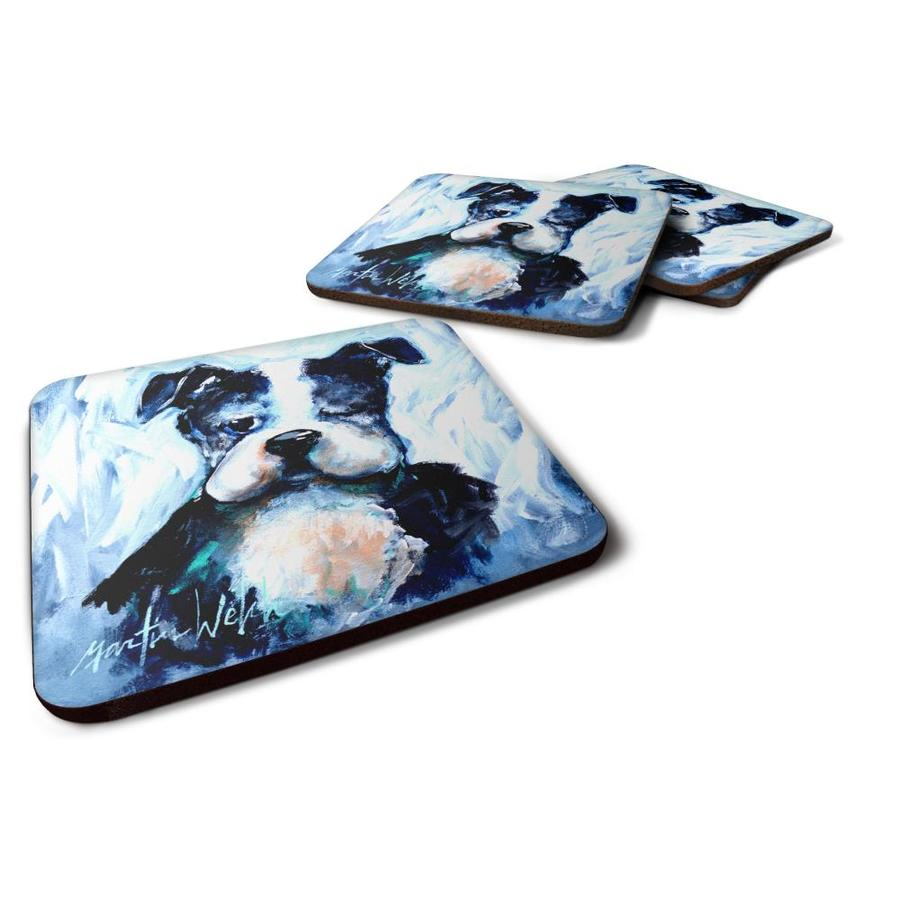 Set of 4 Carolines Treasures CJ1020-PFC Monogram-Blue Argoyle Foam Coasters Multicolor 3.5 H x 3.5 W Initial Letter P
