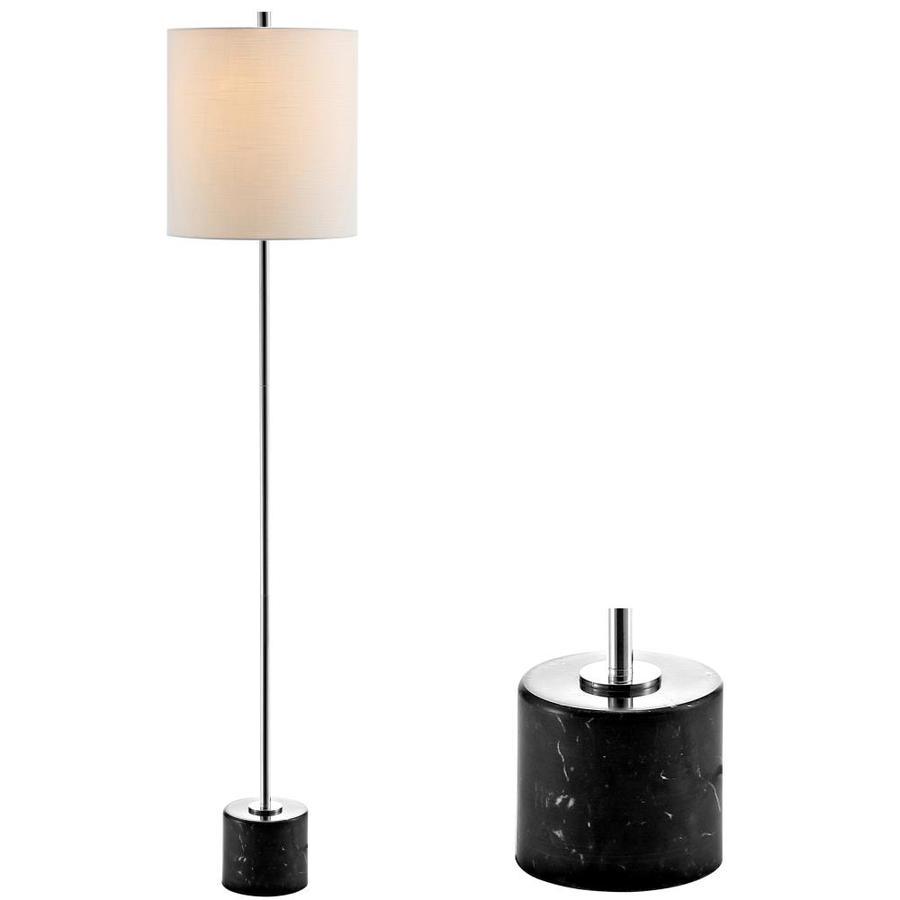 Black Metal  LED Table Lamp Geometric Cylinder Lampshades Cotton LED Light Bulb