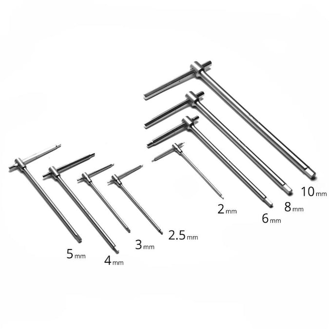 Capri Tools 8-Piece Sliding T-Handle Hex Wrench Set with