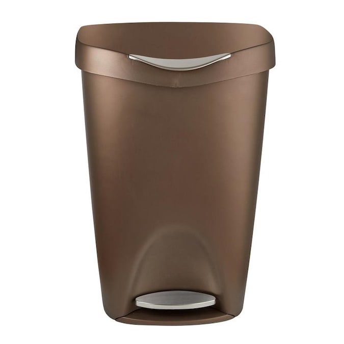Umbra Brim 13 Gallon Trash Can with Lid Large Kitchen Garbage Can with