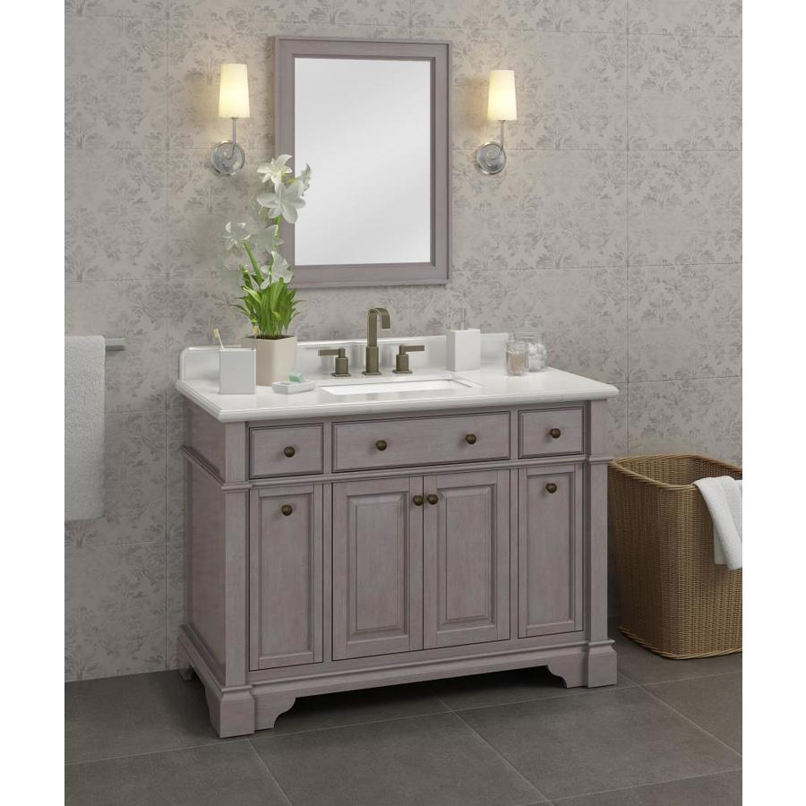 Casanova 48 In Gray Undermount Single Sink Bathroom Vanity With Ariston Quartz Top In The Bathroom Vanities With Tops Department At Lowes Com