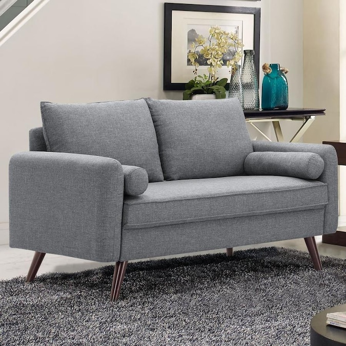 Lifestyle Solutions Casual Grey Loveseat In The Couches Sofas Amp Loveseats Department At Lowes Com