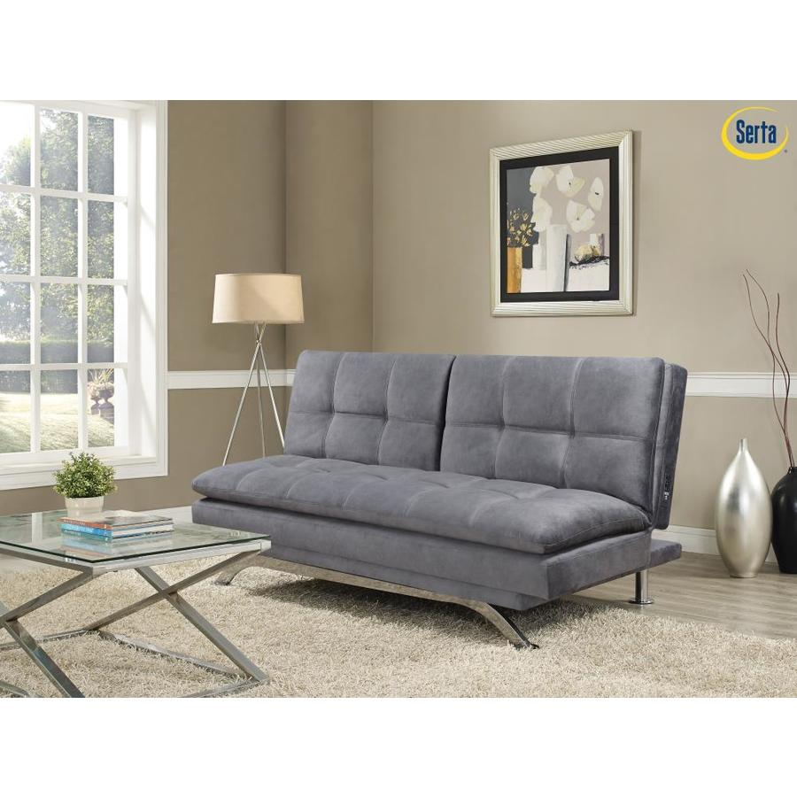 Serta Pampa Serta Sofa With Chrome Legs And Quality Fabric, Light Grey In The Futons & Sofa Beds Department At Lowes.com