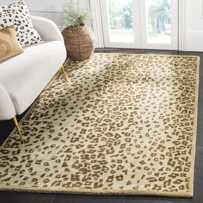 Martha Stewart Kalahari 5 X 8 Horizon Sand Beige Indoor Animal Print Handcrafted Area Rug In The Rugs Department At Lowes Com