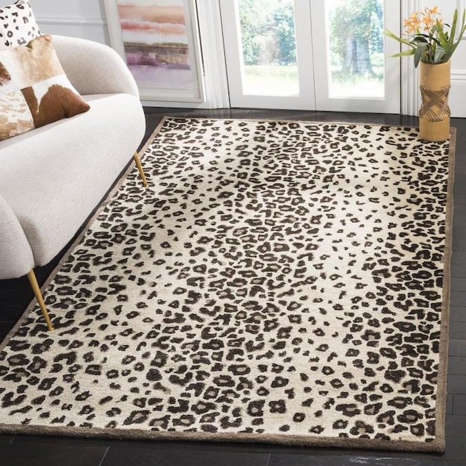 Martha Stewart Kalahari 8 X 10 Sequoia Brown Indoor Animal Print Handcrafted Area Rug In The Rugs Department At Lowes Com