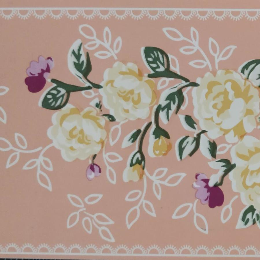 Dundee Deco Peel And Stick Stylized Yellow Pink Flowers Light Russet Wallpaper Border Retro Design Roll 33 Ft X 4 In Self Adhesive In The Wallpaper Borders Department At Lowes Com