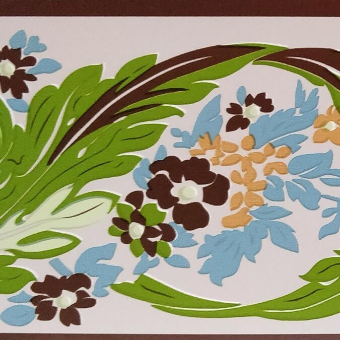 Dundee Deco Peel And Stick Green Russet Vines Stylized Wallpaper Border Retro Design Roll 33 Ft X 4 In Self Adhesive In The Wallpaper Borders Department At Lowes Com