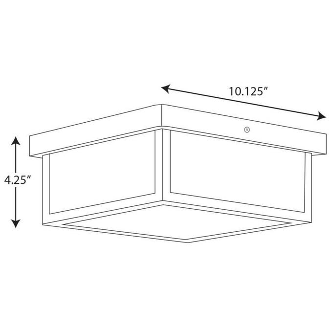 Progress Lighting Box LED 4.25-in Brushed Nickel Craftsman