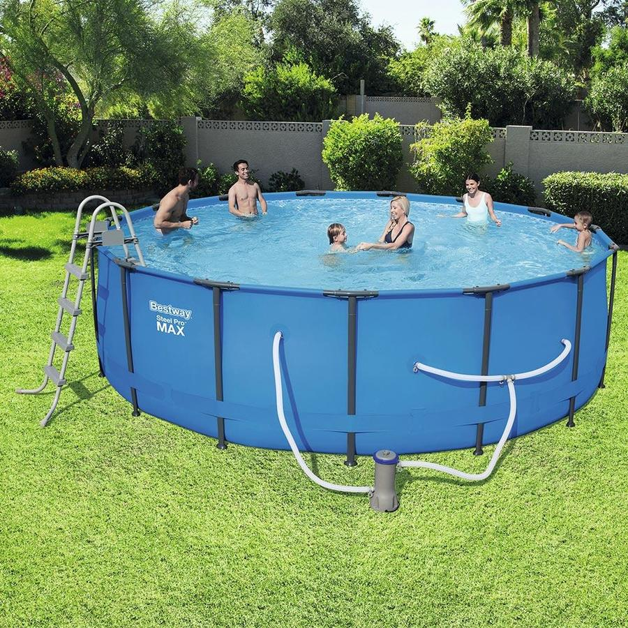 Bestway 15-ft x 15-ft x 48-in Round Above-Ground Pool in the Above-Ground  Pools department at Lowes.com