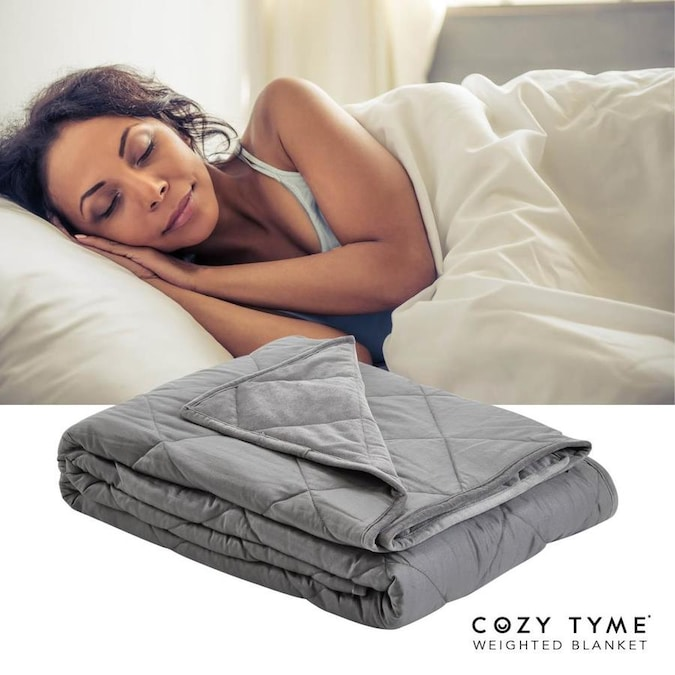 Cozy Tyme Deka Grey 80 In W Cotton Weighted Blanket In The