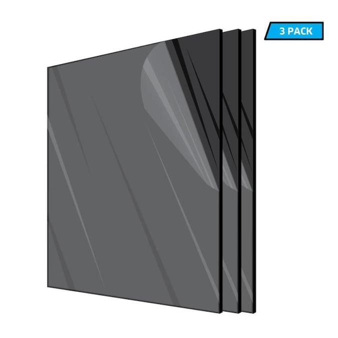 Adiroffice Adiroffice 12 In X 12 In X 1 8 In Black Opaque Plexiglass Acrylic Sheet 6 Pack In The Plastic Sheeting Film Department At Lowes Com