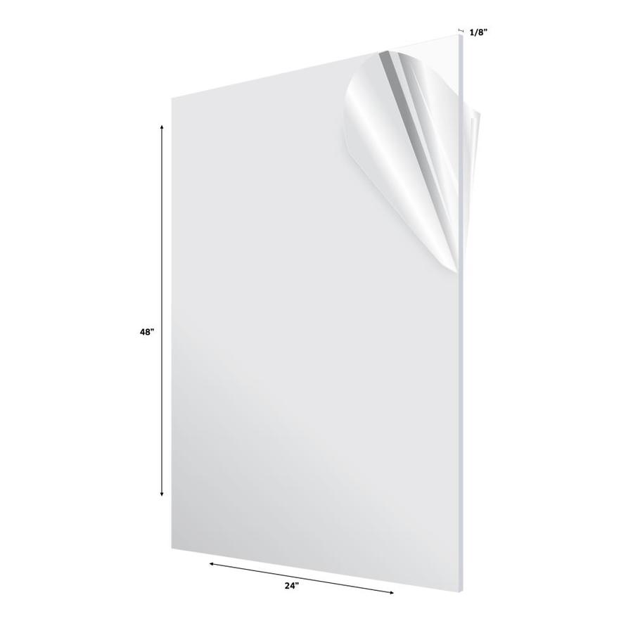 AdirOffice Clear Acrylic Plexiglass Sheet 1//8 x 24 x 48 DIY Sheets 3-Pack
