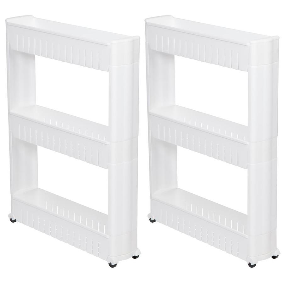 Trademark Innovations White 3 Tier Plastic Freestanding Bathroom Shelf In The Bathroom Shelves Department At Lowes Com