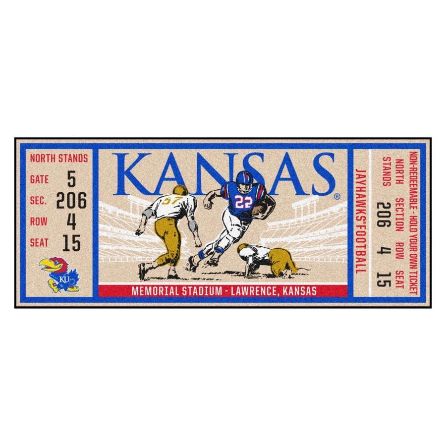 FANMATS NCAA University of Kansas Jayhawks Nylon Face Baseball Rug