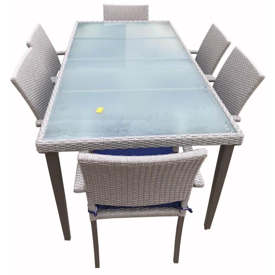 Atlantic 4 Seater Garden Outdoor Patio Table Silver Grey
